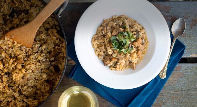Sausage and Wild Mushroom Risotto