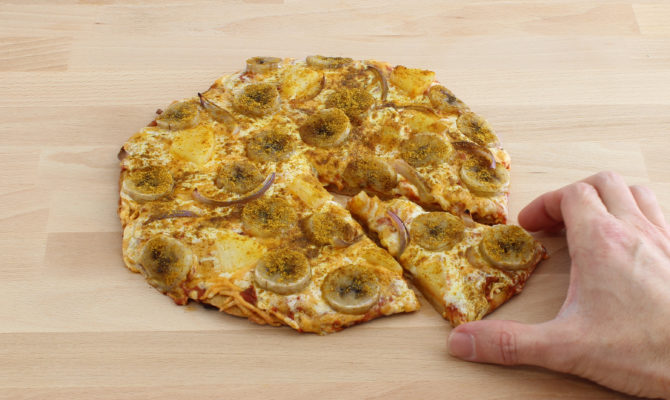 Banan Curry Pizza