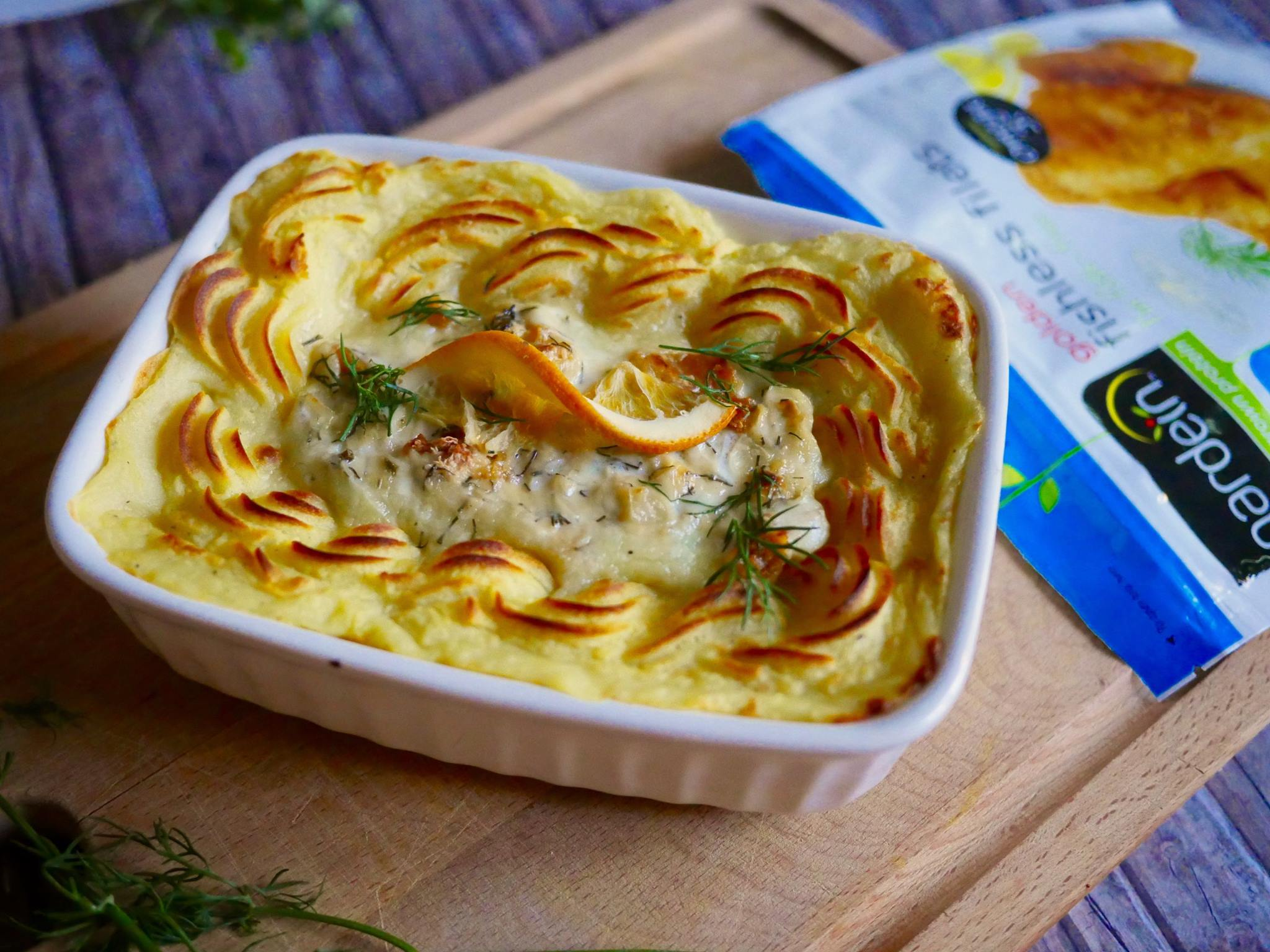 Fishless Filet Gratin